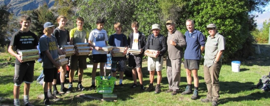 Eco Wanaka Adventures students woodwork teacher and the weta motels